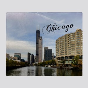 Chicago_10X8_puzzle_mousepad_Skyline Throw Blanket